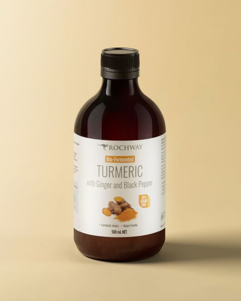Bio-Fermented Turmeric with Ginger and Black Pepper Extract